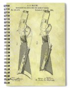 1884 Rifle Stock Patent Spiral Notebook