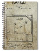 1887 Baseball Game Patent Spiral Notebook