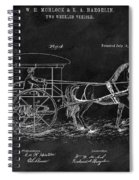 1888 Horse Drawn Carriage Spiral Notebook