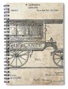 1889 Ambulance Patent Spiral Notebook
