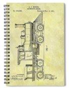 1891 Locomotive Patent Spiral Notebook