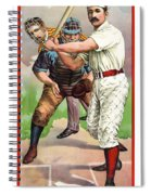 1895 In The Batters Box Spiral Notebook