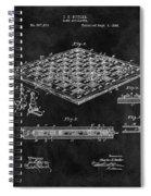 1896 Chessboard Patent Spiral Notebook