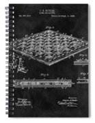 1896 Chessboard Patent Spiral Notebook