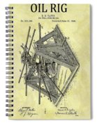 1896 Oil Rig Illustration Spiral Notebook