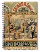 1896 Orient Express Musical Revue Paris Spiral Notebook