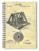 1897 Oil Rig Patent Spiral Notebook