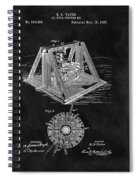 1897 Oil Well Rig Patent Design Spiral Notebook