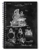 1898 Locomotive Headlight Patent Spiral Notebook
