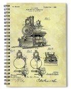 1898 Locomotive Patent Spiral Notebook