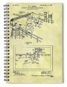 1899 Horse Racing Track Patent Spiral Notebook