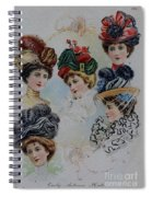 19 Century Ladies Hats The Delineator Early Autumn Hats Spiral Notebook