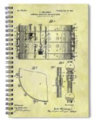 1900 Band Drum Patent Spiral Notebook