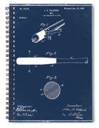 1902 Baseball Bat Patent In Blue Spiral Notebook