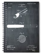 1902 Baseball Bat Patent In Chalk Spiral Notebook