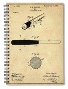 1902 Baseball Bat Patent In Sepia Spiral Notebook