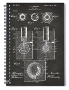 1902 Golf Ball Patent Artwork - Gray Spiral Notebook