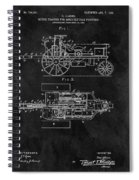 1903 Tractor Blueprint Patent Spiral Notebook