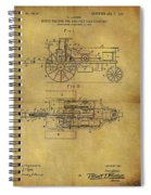 1903 Tractor Patent Spiral Notebook