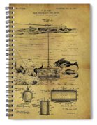 1904 Fishing Decoy Patent Spiral Notebook