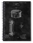 1905 Drum Patent Illustration Spiral Notebook
