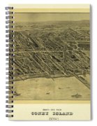 1906 Bird's Eye View Coney Island Spiral Notebook