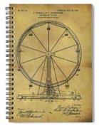1907 Ferris Wheel Patent Spiral Notebook