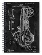 1907 Tractor Blueprint Patent Spiral Notebook