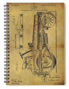 1907 Tractor Patent Spiral Notebook