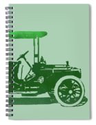 1909 Packard Limousine Green Pop Spiral Notebook