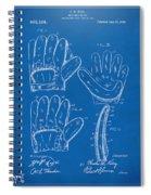 1910 Baseball Glove Patent Artwork Blueprint Spiral Notebook
