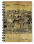 1910 Toy Circus Patent Spiral Notebook