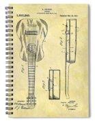 1911 Guitar Patent Spiral Notebook