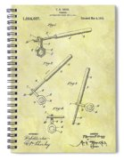 1913 Wrench Patent Spiral Notebook