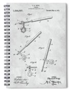 1913 Wrench Patent Illustration Spiral Notebook
