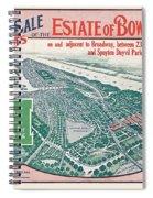 1915 Bronx Lots Sale Flyer Spiral Notebook