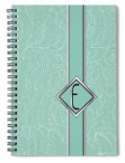 1920s Blue Deco Jazz Swing Monogram ...letter E Spiral Notebook