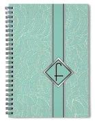 1920s Blue Deco Jazz Swing Monogram ...letter F Spiral Notebook