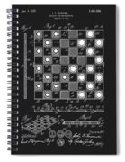 1923 Checkers And Chess Board Spiral Notebook