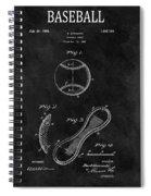 1924 Baseball Patent Illustration Spiral Notebook