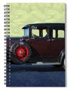 Historical Ford 4 Door Sedan Spiral Notebook