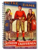 1929 Notre Dame Versus Southerncal Spiral Notebook