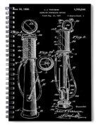 1930 Gas Pump Patent In Black Spiral Notebook