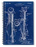 1930 Gas Pump Patent In Blue Spiral Notebook