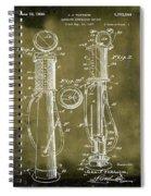 1930 Gas Pump Patent In Grunge Spiral Notebook