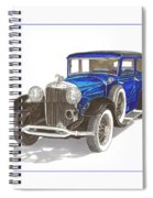 1930 Lincoln L Berline Spiral Notebook