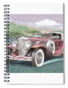 1930 Model J  Duesenberg Spiral Notebook