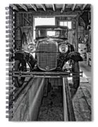 1930 Model T Ford Monochrome Spiral Notebook