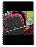 1930 Red Ford Model A-front-8886 Spiral Notebook