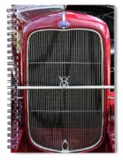 1930 Red Ford Model A-grill-8885 Spiral Notebook